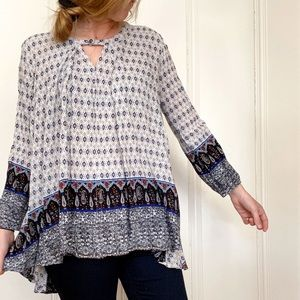 Detailed, Loose-Fit Blouse
